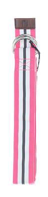 New Mens Footjoy Ribbin Golf Belt Medium Pink/White/Charcoal MSRP $29