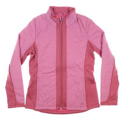 New Womens Puma Primaloft Golf Jacket Small S Rose Wine MSRP $160 597709 02