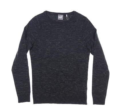 New Womens Puma Crewneck Sweater Small S Puma Black MSRP $70 596624 01