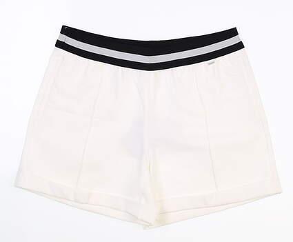 New Womens Puma Elastic Shorts Small S Bright White MSRP $70 595858 02
