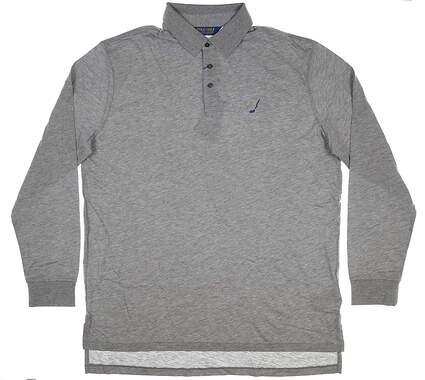 New W/ Logo Mens Ralph Lauren Long New W/ Logo Mens Ralph Lauren Long Sleeve Golf Polo X-Large XL Gray MSRP $139