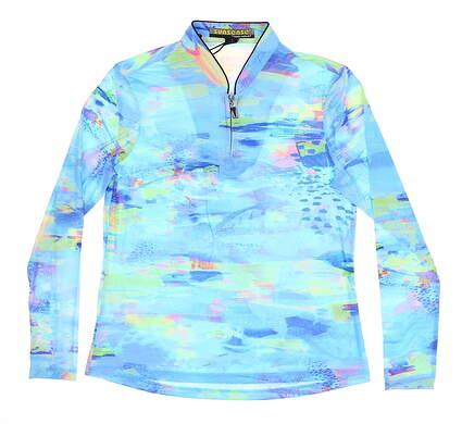 New Womens Jamie Sadock 1/4 Zip Golf Pullover Large L Paradiso MSRP $85 91124