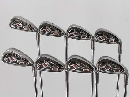 Ping G15 Iron Set 4-PW GW Rifle 5.0 Steel Regular Right Handed Black Dot 38.25in