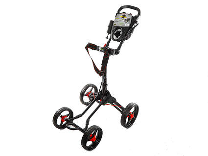 Brand New Bag Boy Quad XL Push and Pull Cart Matte Black/Red Ships Today!