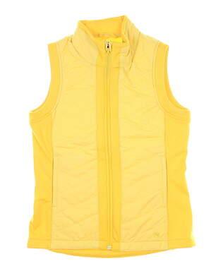 New Womens Puma Primaloft Golf Vest Small S Super Lemon MSRP $98 597710 04