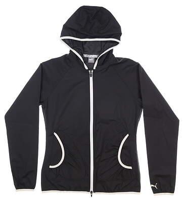 New Womens Puma Zephyr Golf Jacket Small S Black MSRP $75 577942 01