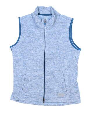 New Womens Puma Cloudspun Warm Up Vest Small S Puma Digi Blue MSRP $70 595852 07