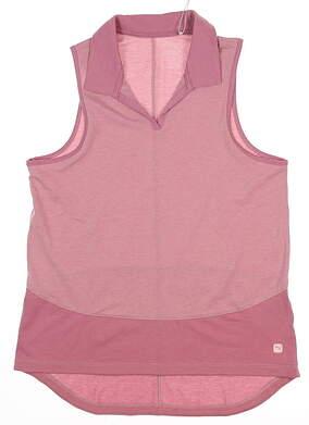 New Womens Puma Mesh Sleeveless Polo Small S Foxglove MSRP $55 597694 01