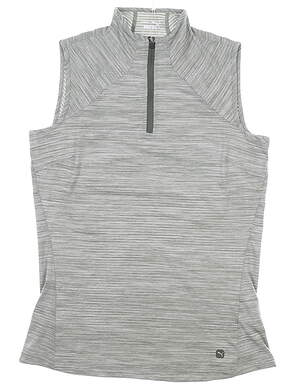 New Womens Puma Daily Mockneck Sleeveless Polo Small S Green MSRP $55 595829 12