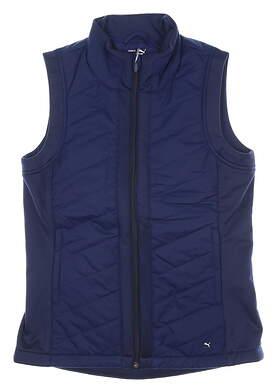 New Womens Puma Primaloft Vest Small S Peacoat MSRP $98 597710 02