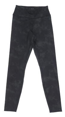 New Womens Puma Floral Dye Leggings Small S Black MSRP $60 597723 01