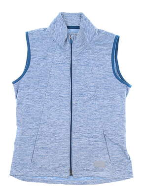 New Womens Puma Cloudspun Warm Up Vest Small S Digi Blue MSRP $70 595852 07