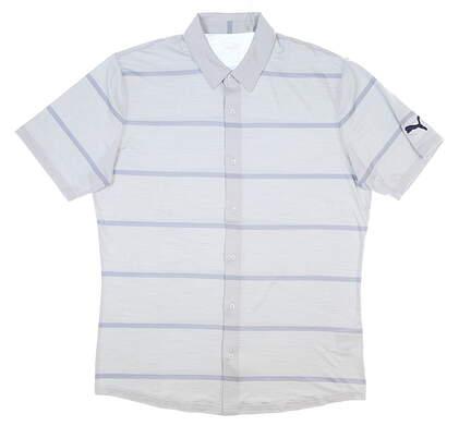 New Mens Puma Cloudspun Golf Shirt Medium M High Rise MSRP $75 597583 01