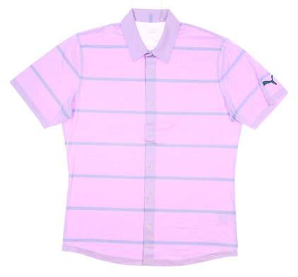 New Mens Puma Cloudspun Golf Shirt Medium M Lupine MSRP $75 597583 02