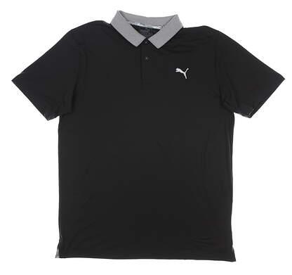 New Mens Puma Lions Golf Polo Medium M Puma Black MSRP $80 598876 01