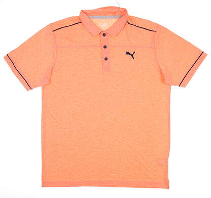 New Mens Puma Rancho Polo Medium M Pureed Pumpkin MSRP $65 598542 15