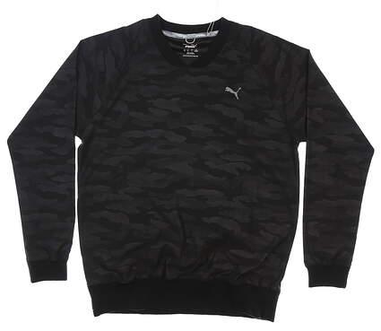 New Mens Puma Embossed Wind Shirt Medium M Puma Black MSRP $85 597595 01
