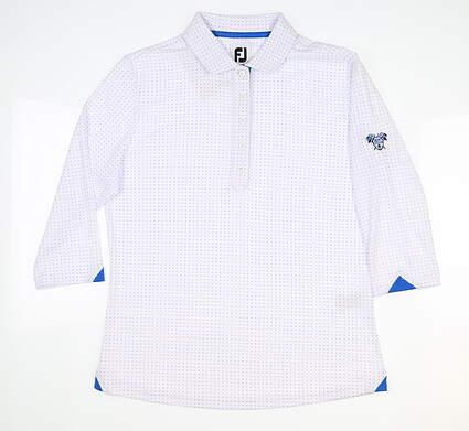 New W/ Logo Womens Footjoy 3/4 Sleeve Polo Small S Multi MSRP $75 27585