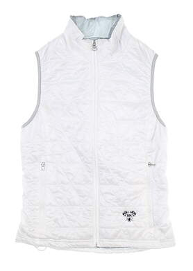 New W/ Logo Womens Sun Mountain Vest X-Small XS White MSRP $120 J80223