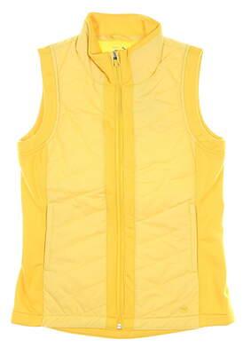 New Womens Puma Primaloft Vest Small S Super Lemon MSRP $98 597710 04