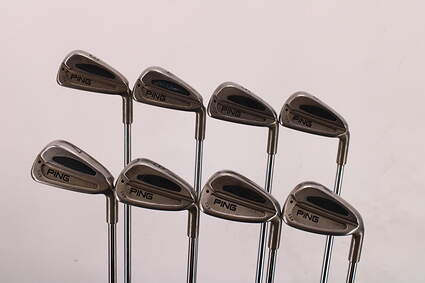 Ping S59 Iron Set 3-PW Stock Steel Shaft Steel Stiff Right Handed Black Dot 38.5in