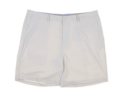New Mens Fennec Solid Tech Flat Front Shorts 42 Stone MSRP $80 000F600