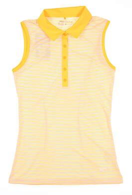 New Womens Nike Sleeveless Golf Polo X-Small XS Orange MSRP $65 725600