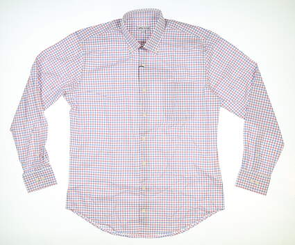 New Mens Peter Millar Button Up Large L Multi MSRP $150 MS19Q12NBL