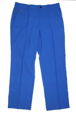 New Mens Adidas 3 Stripe Pants 38 x32 Blue MSRP $70 Z88616