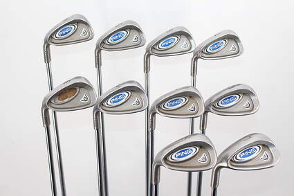 Ping i5 Iron Set 4-PW GW SW LW Rifle 6.5 Steel X-Stiff Right Handed Blue Dot 38.5in