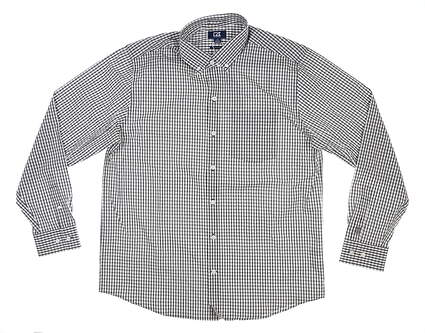 New W/ Logo Mens Cutter & Buck Button Up Large L Gray MSRP $90 MCW00143