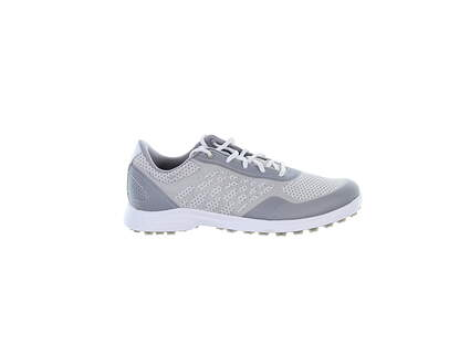 New W/O Box Womens Golf Shoe Adidas Alphaflex Sport Spikeless 7 White/Grey MSRP $100 FX4063