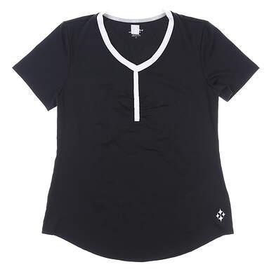 New W/ Logo Womens Jo Fit Golf Tee X-Small XS Black MSRP $70 TT058-BLK