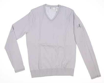New W/ Logo Womens Greg Norman Sweater Small S Gray MSRP $100