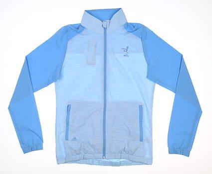 New W/ Logo Womens Adidas Golf Jacket Small S Blue MSRP $90 FU1509