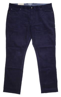 New Mens Peter Millar superior Corduroy Pants 38 x33 Navy Blue MSRP $180 MF20B29