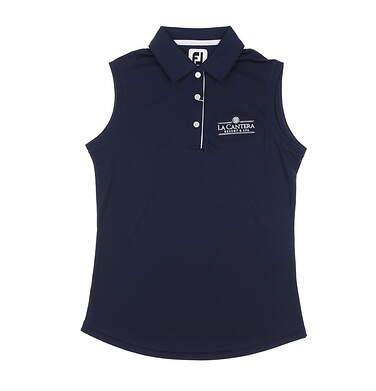 New W/ Logo Womens Footjoy Sleeveless Polo X-Small XS Navy Blue MSRP $70 27076