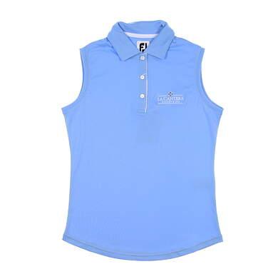 New W/ Logo Womens Footjoy Sleeveless Polo X-Small XS Blue MSRP $70 27075