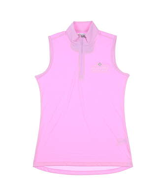 New W/ Logo Womens Greg Norman Sleeveless Polo X-Small Pink MSRP $66 G2S20K485