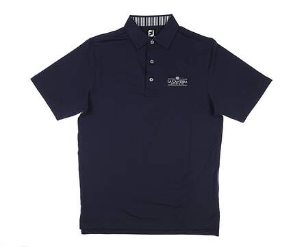 New W/ Logo Mens Footjoy Solid Lisle Polo Small S Navy Blue MSRP $75 32914