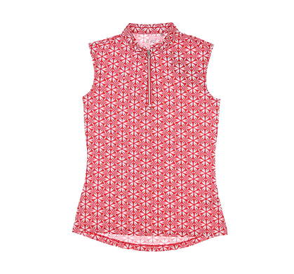 New Womens Nivo Sport Lucetta Sleeveless Mock Small S Red MSRP $78 NI0210154