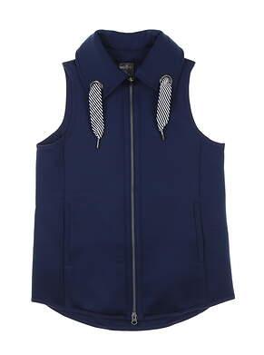 New Womens Belyn Key Grommet Vest X-Small XS Ink MSRP $156 VST0002