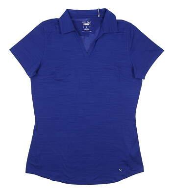 New Womens Puma Cloudspun Free Polo Small S Mazarine Blue MSRP $60 597695 17