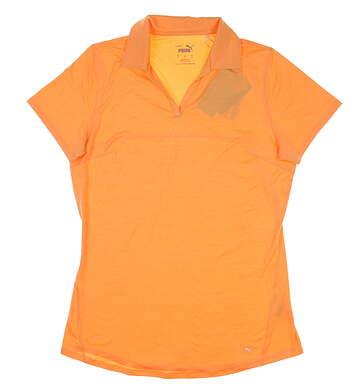 New Womens Puma Cloudspun Free Polo Small S Salmon Buff MSRP $60 597695 22