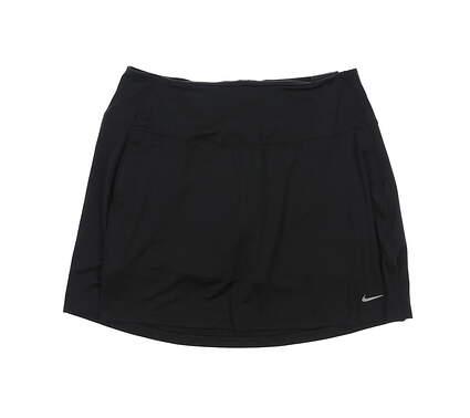 New Womens Nike Golf Skort Large L Black MSRP $70 CU9657-010