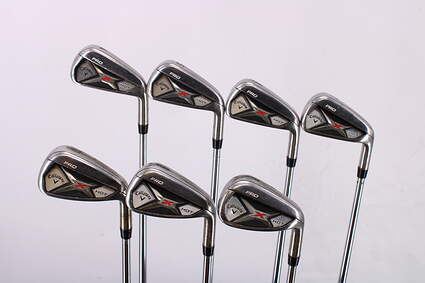 Callaway 2013 X Hot Pro Iron Set 4-PW Project X Rifle 6.5 Steel X-Stiff Right Handed 38.25in