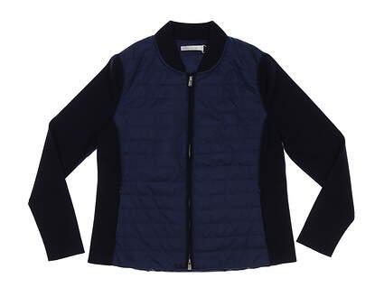 New Womens Peter Millar Hybrid Jacket Large L Navy Blue MSRP $279 LF19Z07