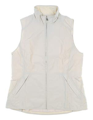 New Womens Peter Millar Vest Large L Tan MSRP $199 LS19Z01