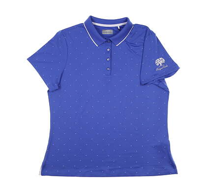 New W/ Logo Womens Callaway Golf Polo X-Large XL Purple MSRP $65