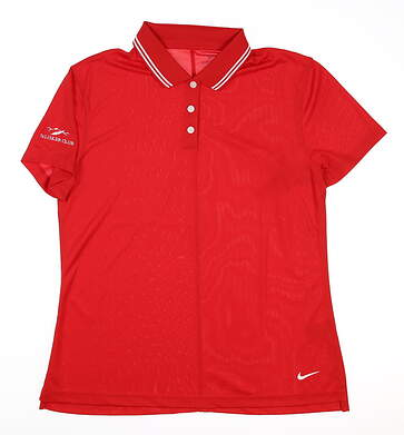 New W/ Logo Womens Nike Golf Polo X-Small XS Red MSRP $45 BV0217-657